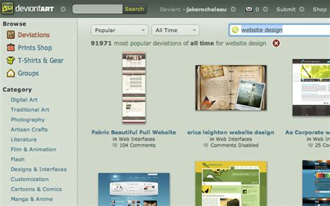 search design using web design to solve creative problems