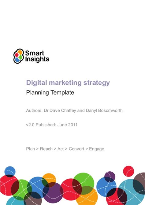 digital marketing caign planning template digital marketing plan template