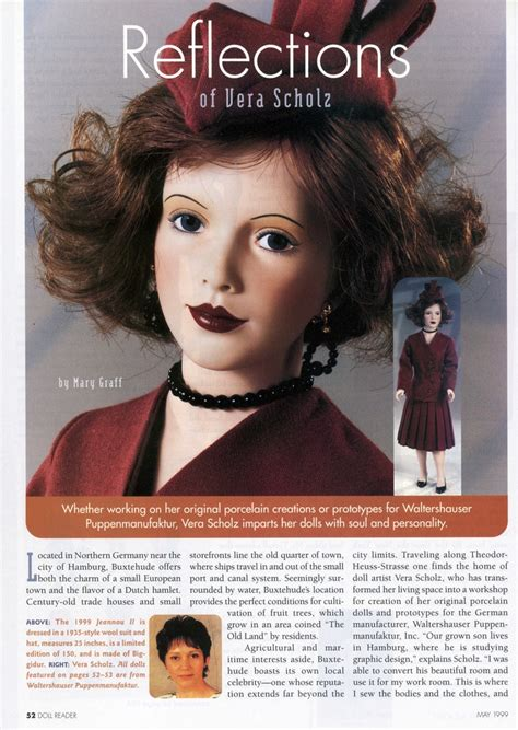 doll reader x article on vera scholz doll reader magazine may 1999 p