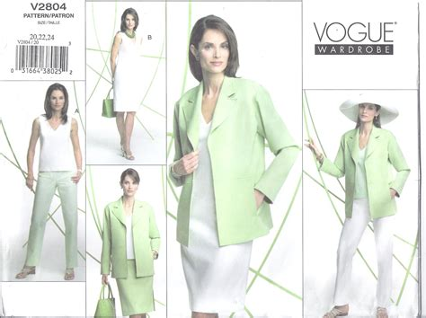 Pattern Shift Dress Vogue | vogue pattern 2804 plus size jacket pants shift dress top