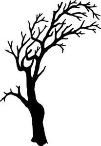 spooky tree pumpkin template scary tree clipart best