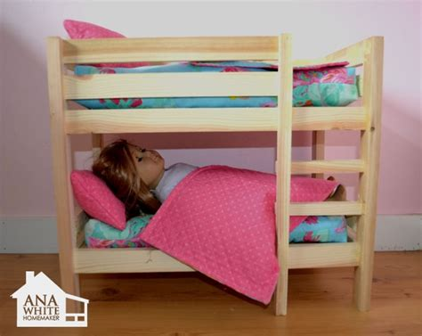 Dolls Bunk Bed White Build A Doll Bunk Beds For American Doll And 18 How To Build A American Doll