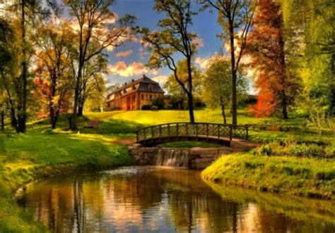 fall house country house in autumn houses architecture background