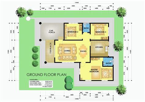 layout plan rumah jad design studio 1 unit rumah banglo 1 tingkat di taman