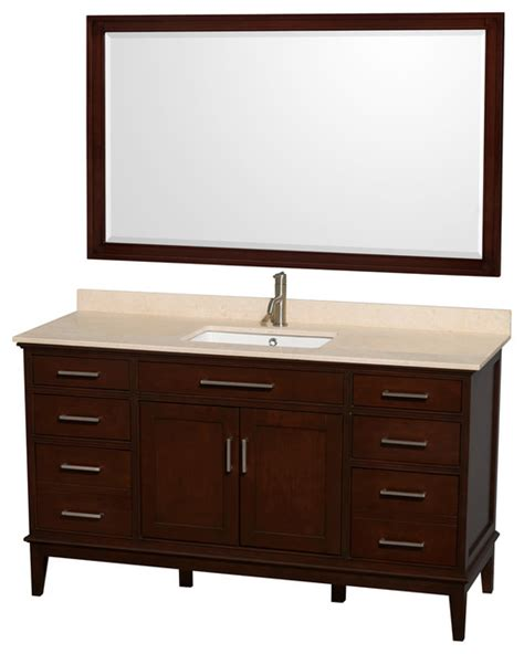 eco friendly single sink vanity with mirror contemporary