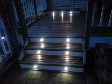 Patio Step Lights Led Step Lights Mini Deck Step Accent Light 0 5 Watt 25 Lumens Led Deck Lighting