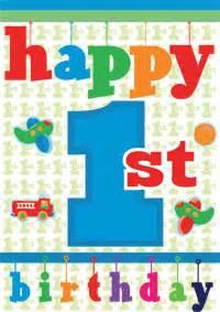 baby 1st birthday card