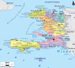 detailed clear large map of haiti ezilon maps