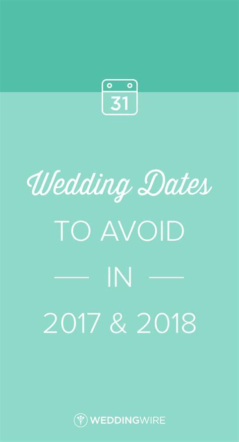 The Wedding Dates to Avoid in 2019 and 2020   Wedding