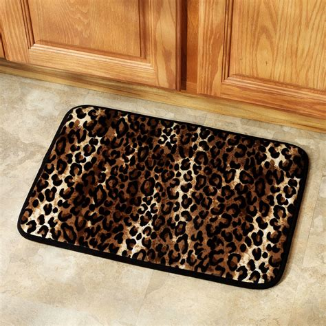 animal print bathroom rugs leopard print kitchen accessories home design and decor