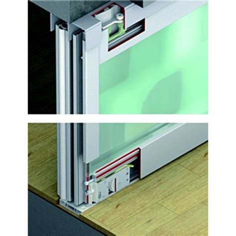 Top Hung Kitchen Cabinet Hinges Sliding Door Hardware Hafele Divido 80 Gr Fitting Set Top Hung For Wood Or Glass Doors Up To