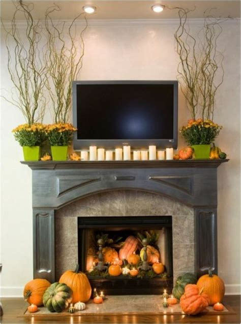 fireplace mantel decorating ideas for fall 39 beautiful fall mantel d 233 cor ideas digsdigs