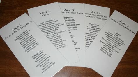 fly ladaires flylady printable checklists for zone cleaning just b cause