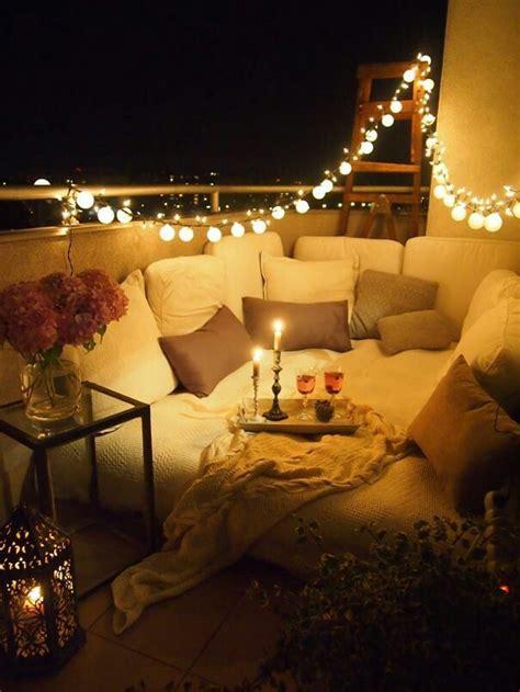 romantic date night  home ideas decorate  balcony