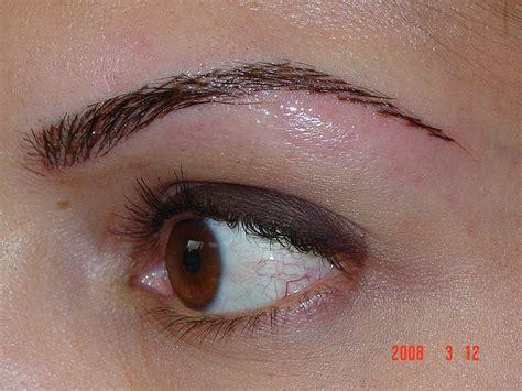 tattoo eyebrows york after eyebrow tattoo via flickr go to www likegossip