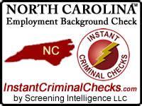 Background Check Carolina Carolina Employment Background Check Nc Criminal
