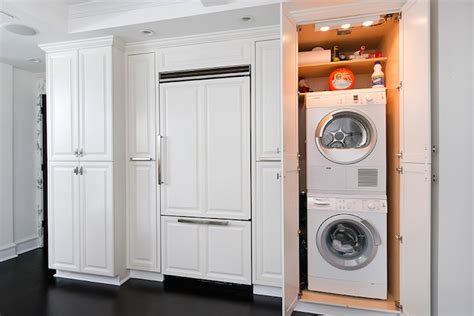 laundry in kitchen washer and dryer design ideas