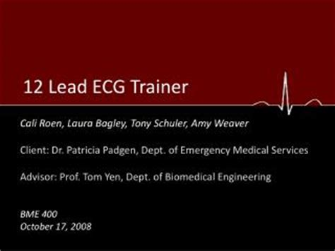 ecg tutorial powerpoint ppt chapter 8 for 12 lead training the 15 lead ecg