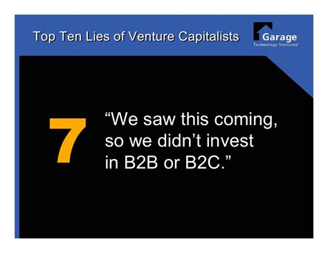 8 Out Of Ten Daters Lie For by Top 10 Lies Of Venture Capitalists