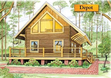 depot log home plan by bk cypress log homes