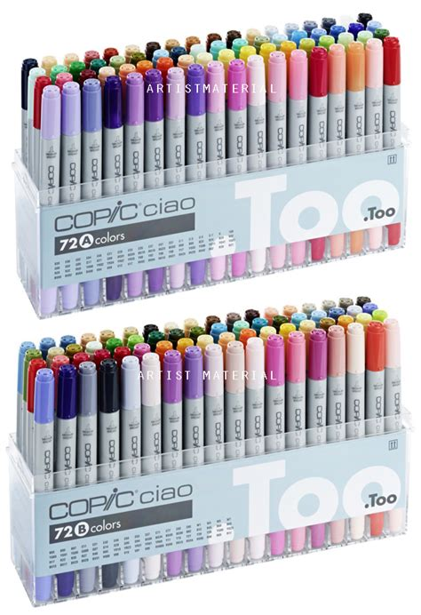 Copic Ciao Set 72 A copic ciao marker 72a 72b pen set tipped 144 colours marker ebay