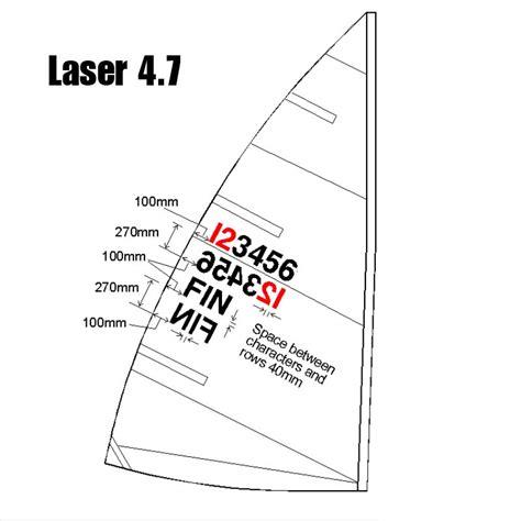 applying laser sail numbers shoreline sailboats - Sailboat Numbers