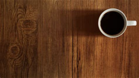 Coffee Cup Top View On Wooden Table Background Stock Photo   Image: 44557943