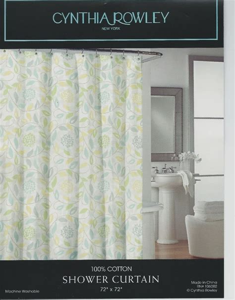 rowley drapery cynthia rowley fabric shower curtain blue yellow floral