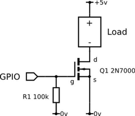 mosfet switch resistor gpio increase raspberry pi voltage raspberry pi stack exchange