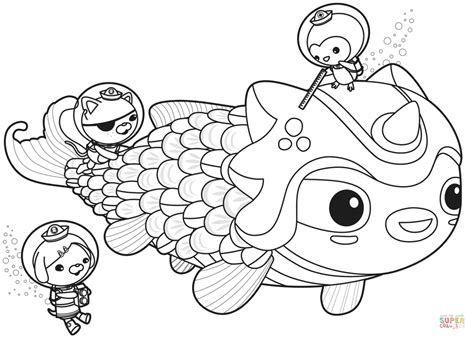 Gup X Coloring Page by Octonauts Gup Coloring Pages Gallery Coloring For 2018