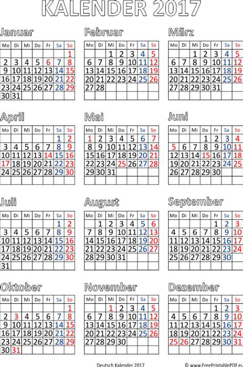 Druck Kalender 2017 Kalender 2017 Druck Pdf Drucken Kostenlos