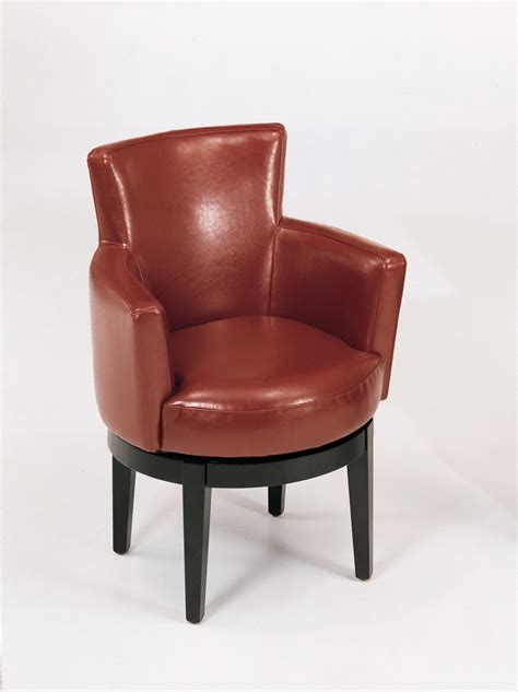 Swivel Leather Club Chairs Armen Living Leather Swivel Club Chair By Oj Commerce 396 00