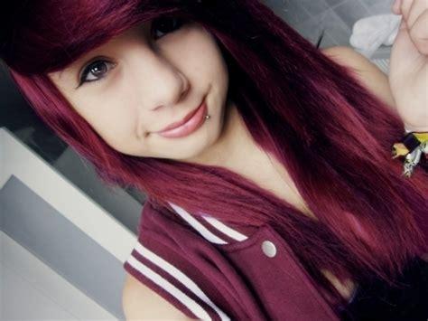 emo hairstyles burgundy burgundy red velvet hair color medium hair styles ideas
