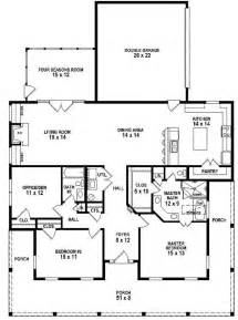 Floor Plans With Porches by 653881 3 Bedroom 2 Bath Southern Style House Plan With