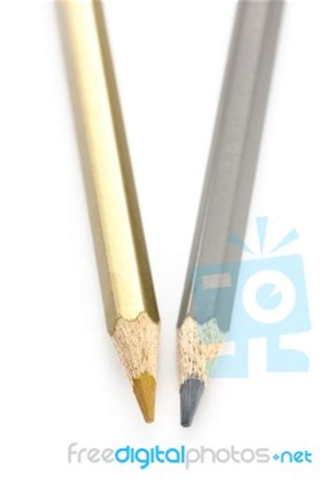gold color pencil pencil color gold silver stock photo royalty free image