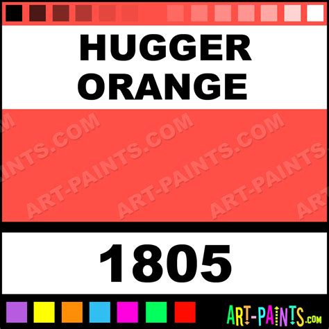 hugger orange acrylic enamel paints 1805 hugger orange paint hugger orange color ae