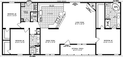 floor plans 2000 square 2000 sq ft floor plans the tnr 46816w manufactured home floor plan jacobsen homes