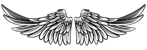 angel tattoo spread wings spread pair of angel or eagle wings stock vector