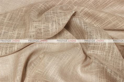 faux sheer linen fabric by the yard chagne