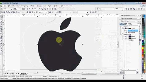 corel draw x7 trace coreldraw using trace bitmap reduce nodes and break