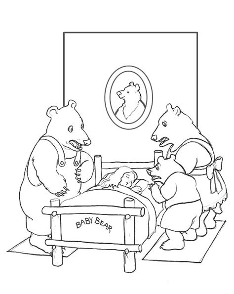 three bears coloring page free coloring pages of story about 3 bears
