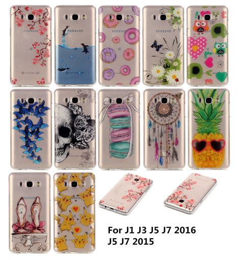 Soft Samsung J3 Sillicon Batik Flower Swarovsky J3 2015 imd clear with patterns patterns soft silicon for samsung galaxy