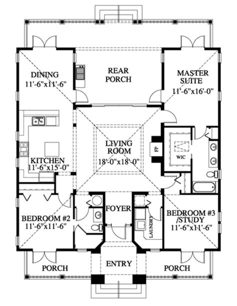 style house plan 3 beds 2 baths 1622 sq ft plan
