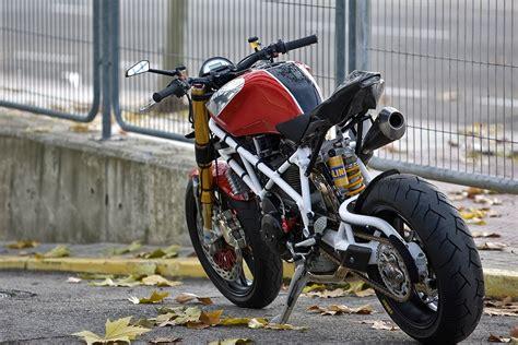 Motorrad Gabel Umbau T V by Radical Ducati Pursang Gebaut Um Dreckig Am Gas Zu