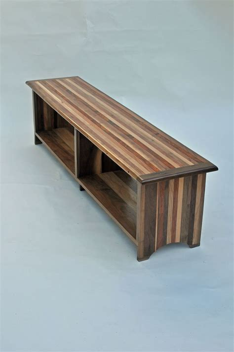 custom benches with storage hand made two benches with book shelf storage beneath seat