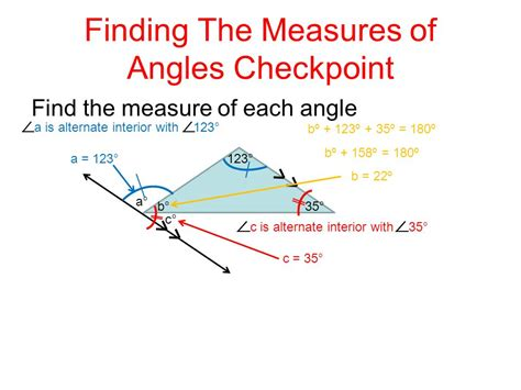 Finding Interior Angles by Triangles And Angles Ppt