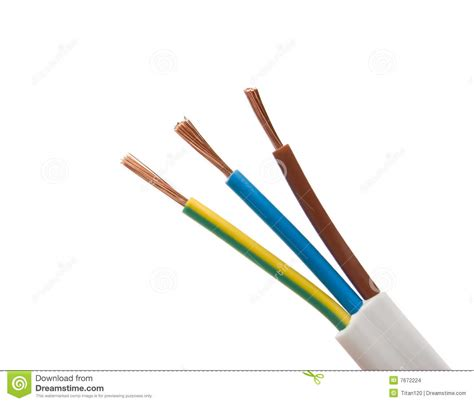 electrical cable on white background stock images image