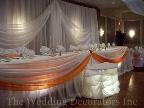 decorating the head table at a wedding reception ehow receptions head tables and orange on pinterest