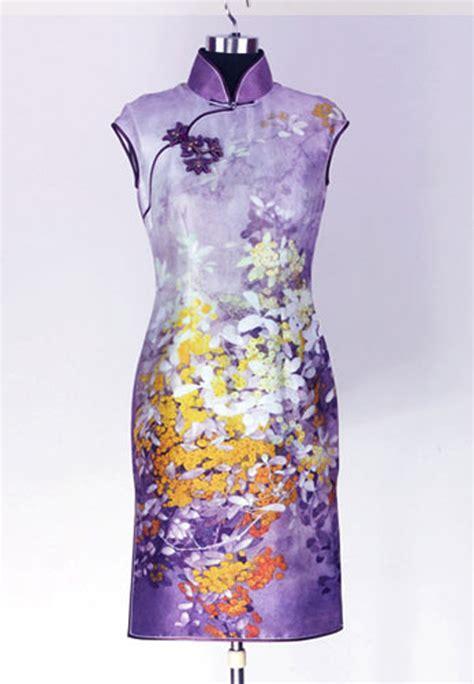 Cheongsam Dress purple silk drag sleeveless cheongsam dress sps11 custom