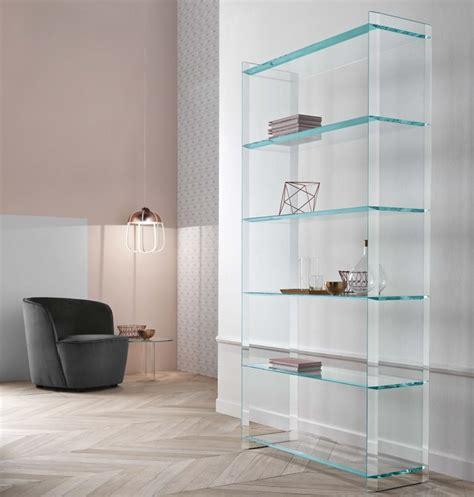 glass shelves bookcase tonelli quiller glass bookcase tonelli design modern bookcases